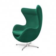 Fotel z wełny kaszmirowej 83x72x107cm King Home EGG zielony