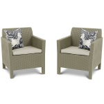 Fotele ogrodowe Orlando Duo Allibert 75x65cm cappuccino/piasek