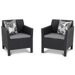 Fotele ogrodowe Orlando Duo Allibert 75x65cm grafit/szary