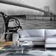 Fototapeta - A Foggy Day on the Brooklyn Bridge A0-XXLNEW011431