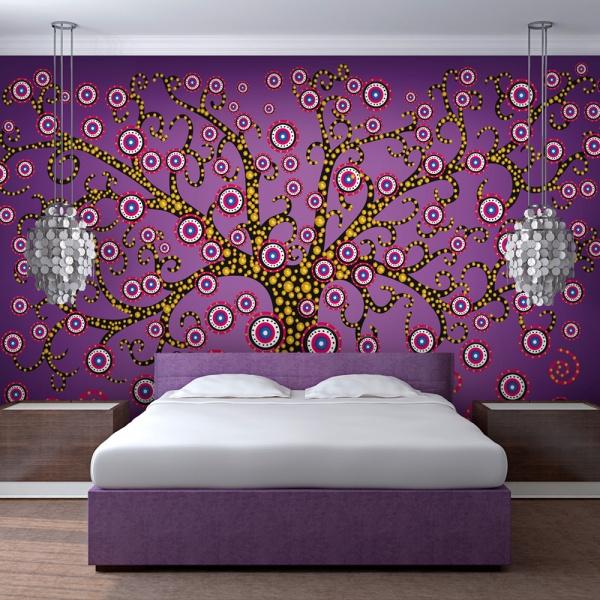 Fototapeta - abstrakcja: drzewo (fioletowy) (200x154 cm) A0-LFTNT0828