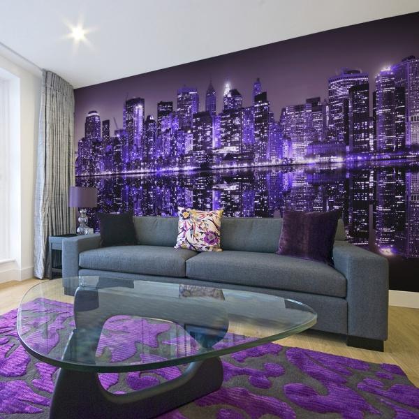 Fototapeta - American violet (550x270 cm) A0-F5TNT0041-P
