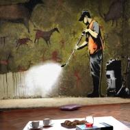 Fototapeta - Banksy - Cave Painting (300x210 cm)
