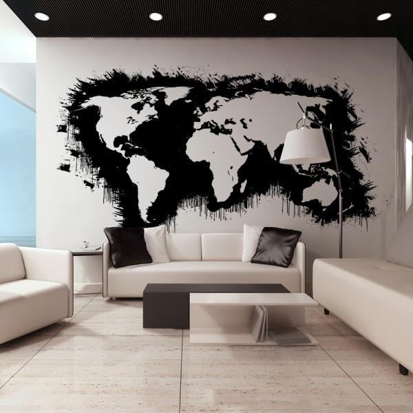 Fototapeta - Białe kontynenty, czarne oceany... (550x270 cm) A0-F5TNT0092-P