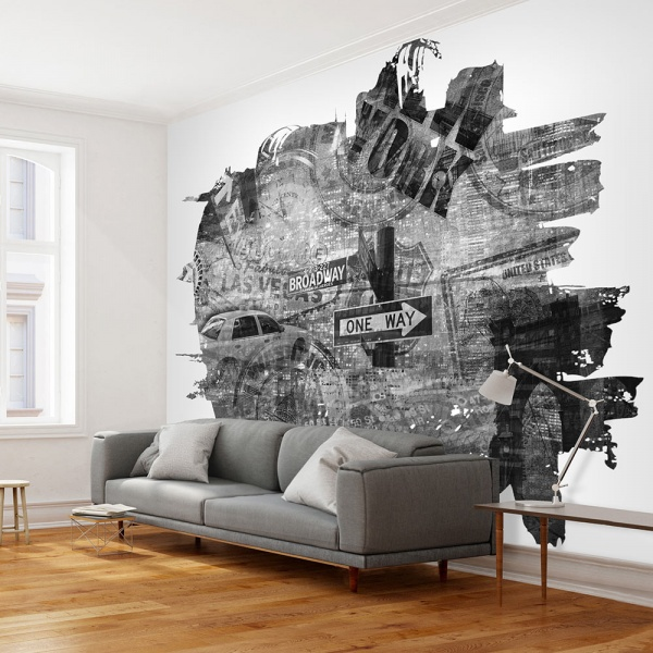 Fototapeta - Black-and-white New York collage (200x154 cm) A0-LFTNT0682
