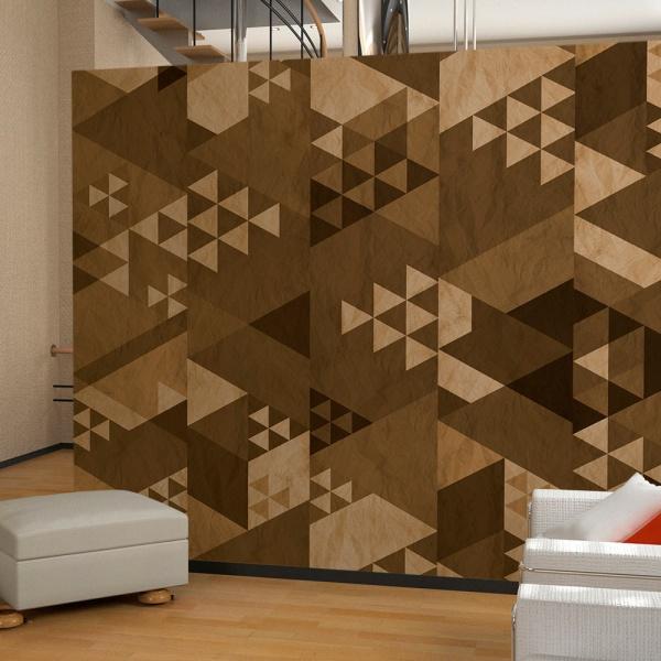 Fototapeta - Brązowy patchwork (50x1000 cm) A0-WSR10m189