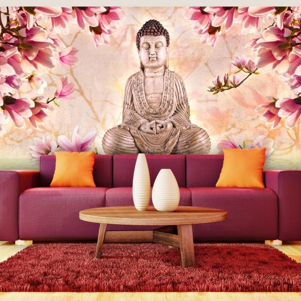 Fototapeta - Budda i magnolia (550x270 cm) A0-F5TNT0076-P