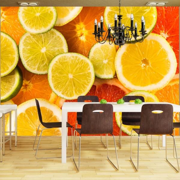 Fototapeta - Citrus fruits (200x154 cm) A0-LFTNT0882