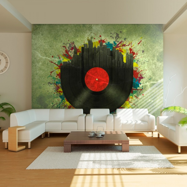 Fototapeta - Colorful melodies of the city (200x154 cm) A0-LFTNT0504