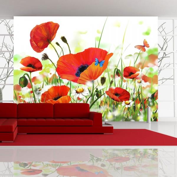 Fototapeta - Country poppies (400x270 cm) A0-F45TNT0027-P