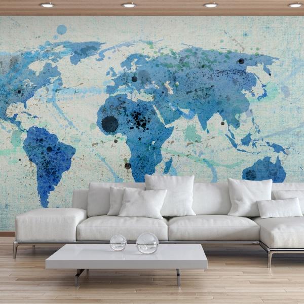 Fototapeta - Cruising and sailing -  The World map (450x270 cm) A0-F4TNT0129-P