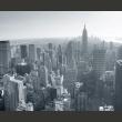 Fototapeta - Czarno-biała panorama Nowego Jorku A0-F5TNT0016-P