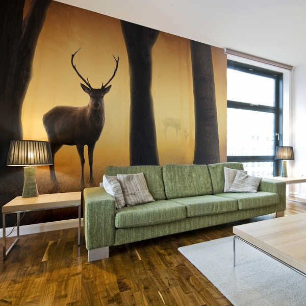 Fototapeta - Deer in his natural habitat (200x154 cm) A0-LFTNT0750