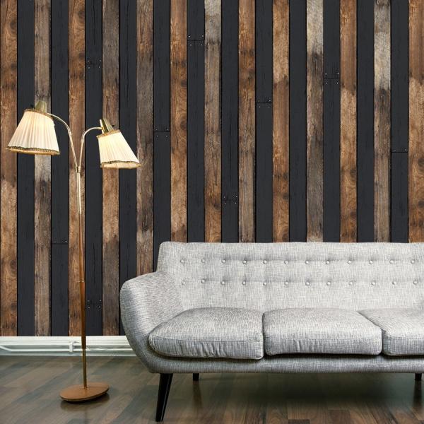 Fototapeta - Drewniany duet (50x1000 cm) A0-WSR10m541