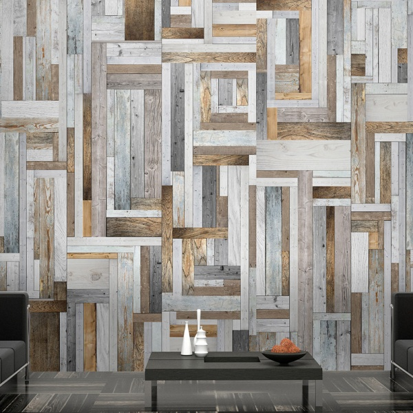 Fototapeta - Drewniany labirynt (50x1000 cm) A0-WSR10m214