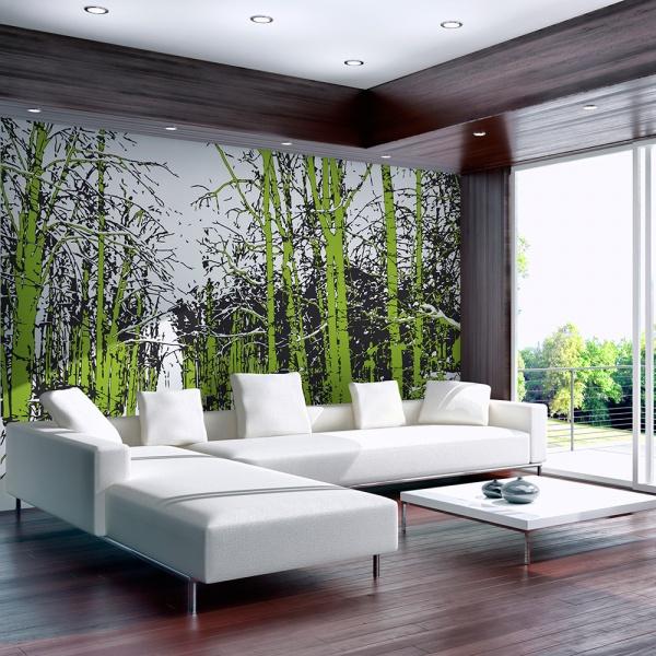 Fototapeta - drzewa - wiosna (200x154 cm) A0-LFTNT0754