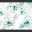 Fototapeta - Dźwięki subtelności - turkus A0-XXLNEW010372