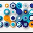 Fototapeta - Geometria niebieskiego koła A0-XXLNEW011492