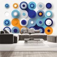Fototapeta - Geometria niebieskiego koła (300x210 cm)