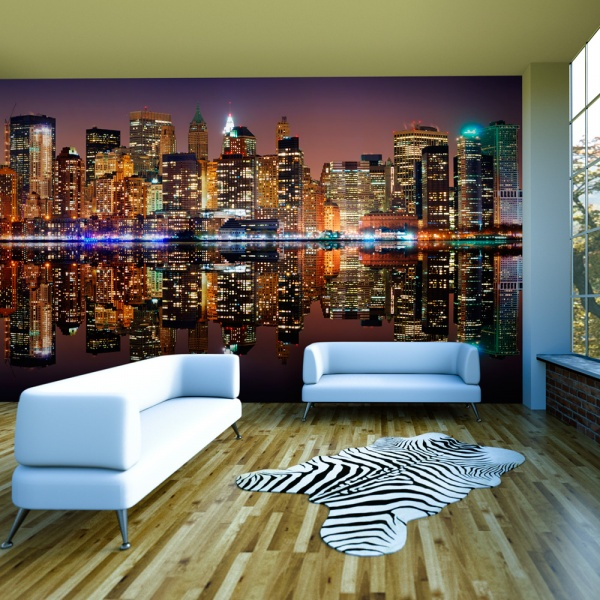 Fototapeta - Gold reflections - NYC (550x270 cm) A0-F5TNT0019-P