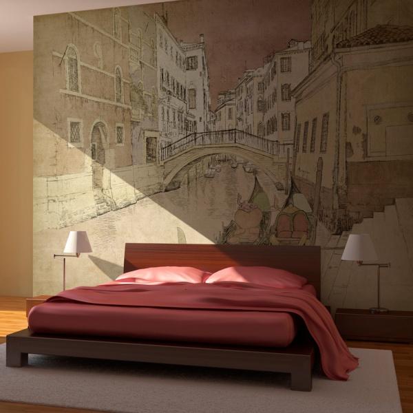 Fototapeta - Gondolas in Venice (200x154 cm) A0-LFTNT0678