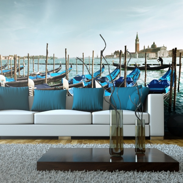 Fototapeta - Gondole na Canal Grande, Wenecja (550x270 cm) A0-F5TNT0018-P