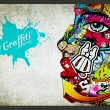 Fototapeta - Graffiti beauty A0-XXLNEW010357