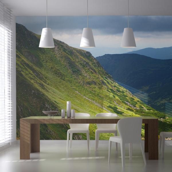 Fototapeta - Green mountain landscape (550x270 cm) A0-F5TNT0004-P