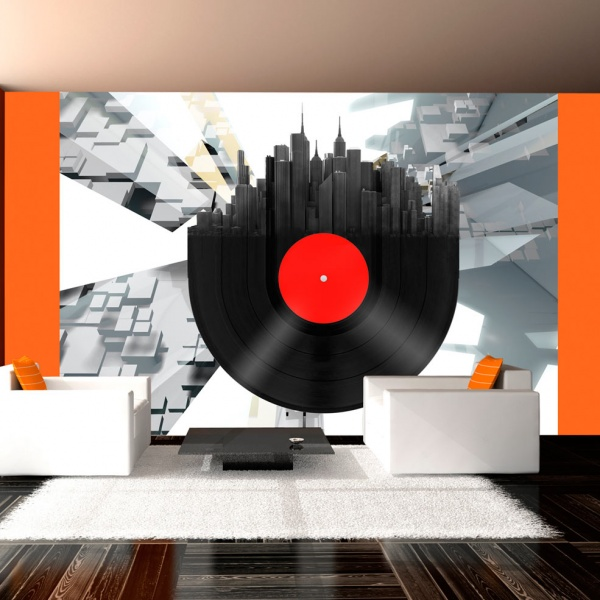 Fototapeta - Heavy sounds of the city (200x154 cm) A0-LFTNT0505