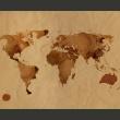 Fototapeta - Herbaciana mapa świata A0-LFTNT0443