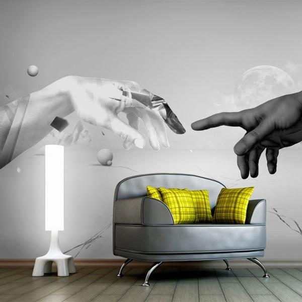 Fototapeta - Intergalactic touch (200x154 cm) A0-LFTNT0846