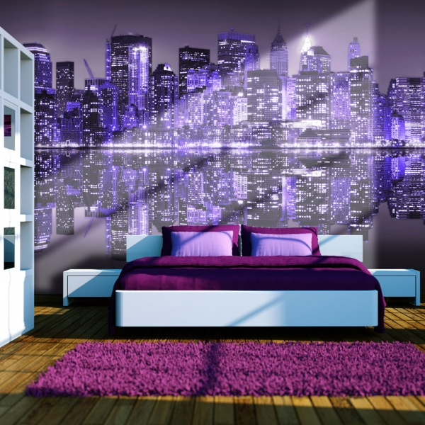 Fototapeta - Into the violet - NYC (200x154 cm) A0-LFTNT0722