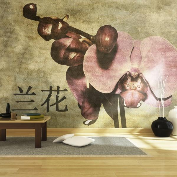 Fototapeta - Japanese orchid (200x154 cm) A0-LFTNT0544