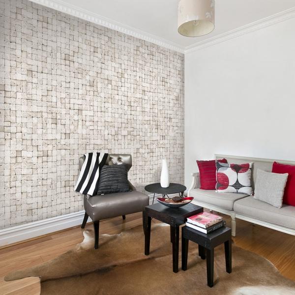 Fototapeta - Kamienie: mozaika (50x1000 cm) A0-WSR10m334