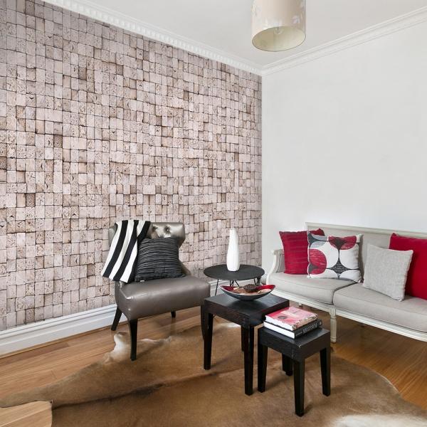 Fototapeta - Kamienne tło: mozaika (50x1000 cm) A0-WSR10m332