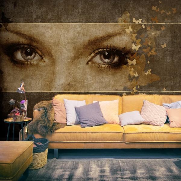Fototapeta - Kobieta i motyle (200x154 cm) A0-LFTNT0522