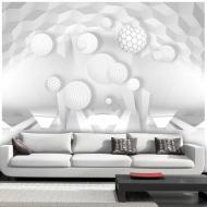 Fototapeta - Koła w przestrzeni (300x210 cm)