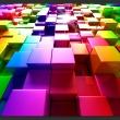 Fototapeta - Kolorowe sześciany A0-XXLNEW011490