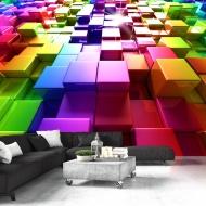 Fototapeta - Kolorowe sześciany (300x210 cm)