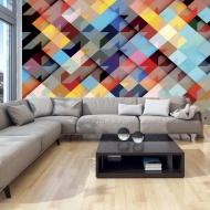 Fototapeta - Kolorowy patchwork (300x210 cm)