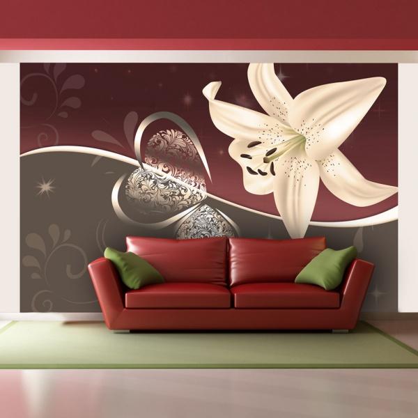Fototapeta - Kremowa lilia (400x270 cm) A0-F45TNT0029-P