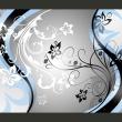 Fototapeta - Kwietne esy-floresy (niebieski) A0-XXLNEW010124