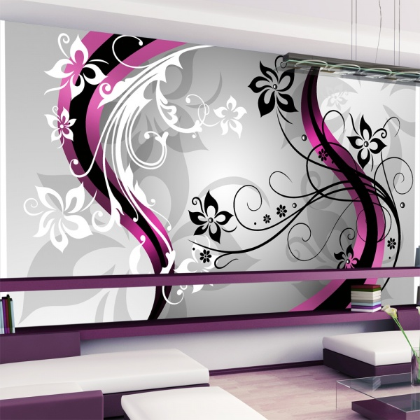 Fototapeta - Kwietne esy-floresy (różowy) (500x280 cm) A0-500280new02-P