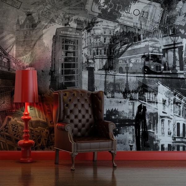 Fototapeta - Londyn, Londyn... (czarno-biały) (200x154 cm) A0-LFTNT0687