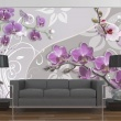 Fototapeta - Lot purpurowych orchidei A0-XXLNEW010173