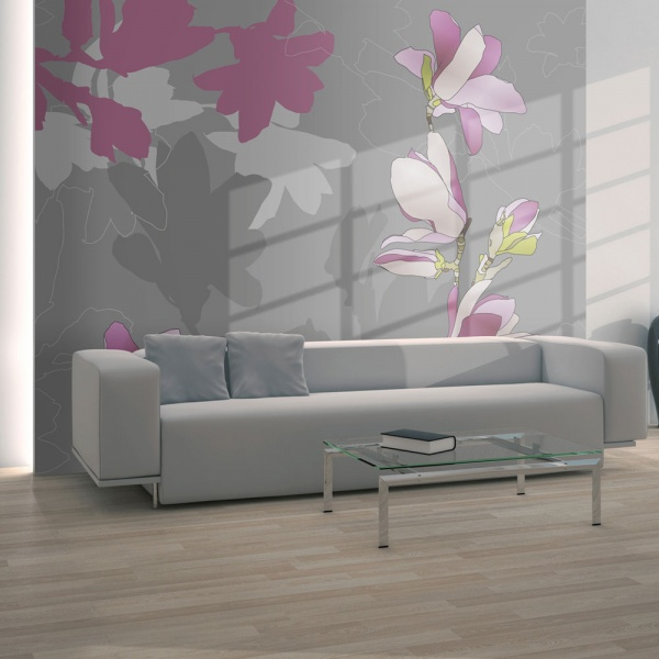 Fototapeta - magnolia (różowy) (200x154 cm) A0-LFTNT0526