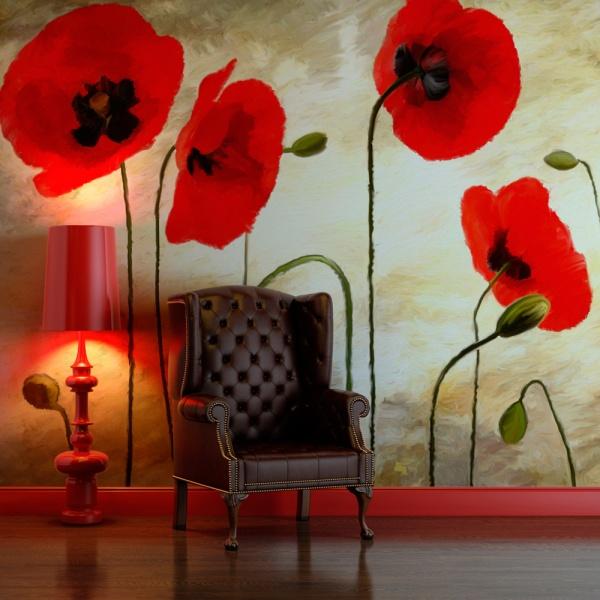 Fototapeta - Malowane maki (200x154 cm) A0-LFTNT0546