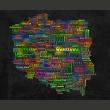 Fototapeta - Mapa Polski A0-F4TNT0012-P