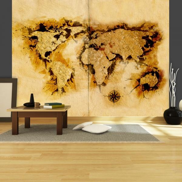 Fototapeta - Mapa poszukiwaczy złota (200x154 cm) A0-LFTNT0467