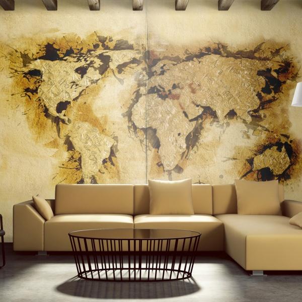 Fototapeta - Mapa poszukiwaczy złota (450x270 cm) A0-F4TNT0128-P